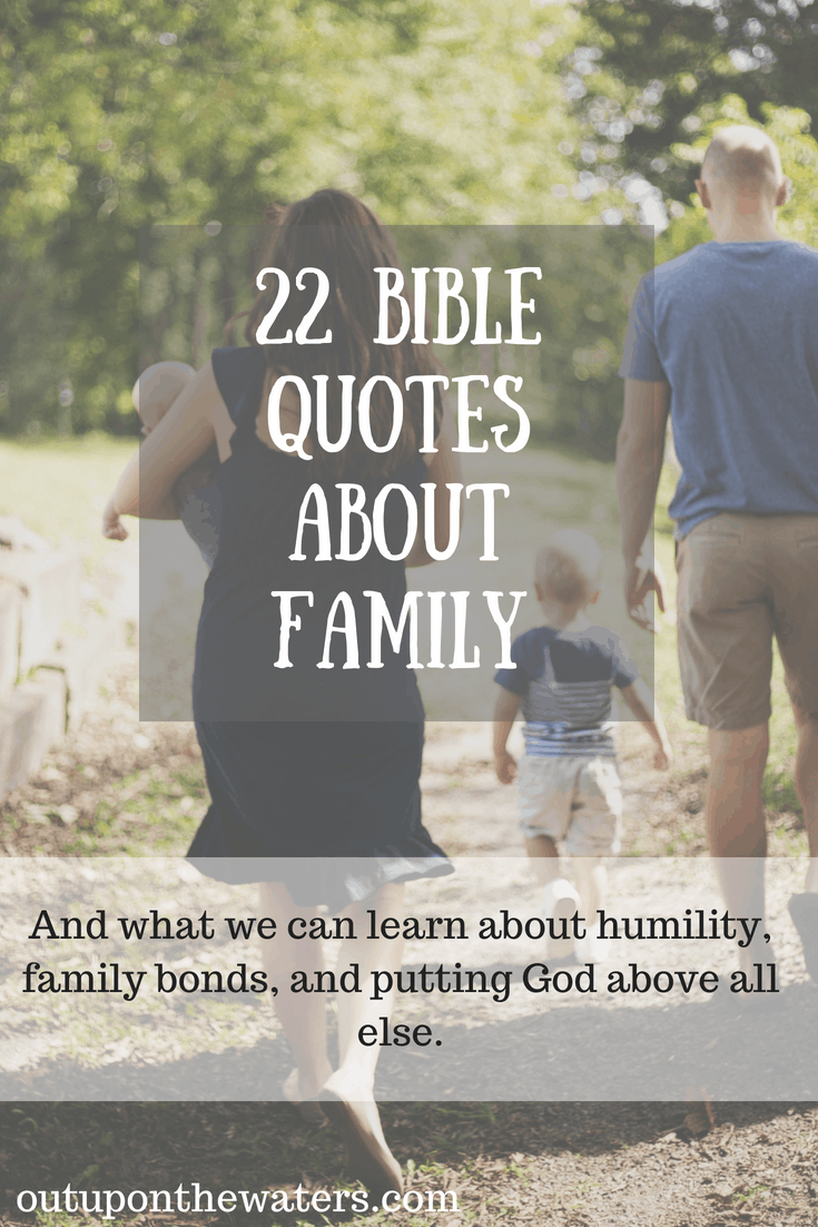 bible quotes about family out upon the waters
