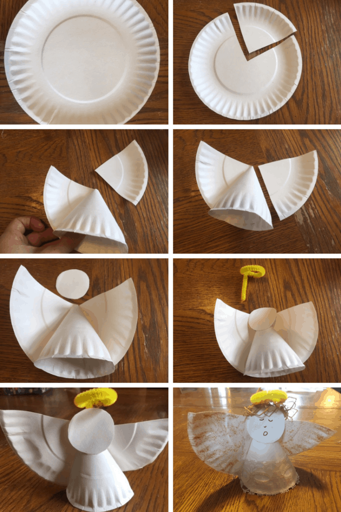 Diy Stand Up Paper Plate Angel Out Upon The Waters